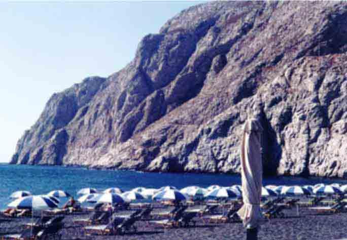 Santorini Beaches Black Sand Beach In Santorini Greece